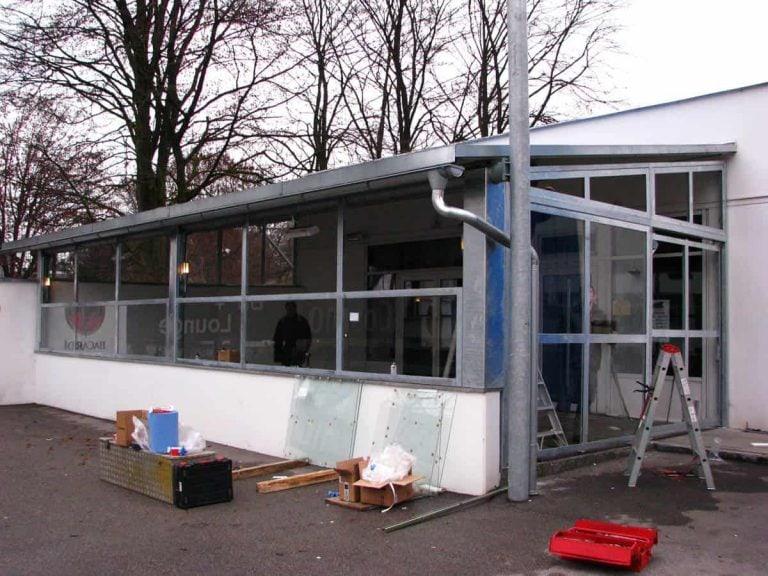 Verglasung der Terrasse